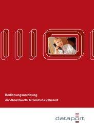 """Bedienungsanleitung """"Anrufbeantworter"""" für Siemens Optipoint"""