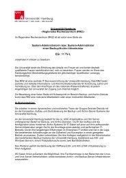 Universität Hamburg - Regionales Rechenzentrum (RRZ) - System ...