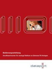 Bedienungsanleitung Anrufbeantworter für digitale Telefone