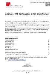Anleitung IMAP Konfiguration E-Mail-Client Mailhost