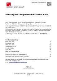 Anleitung POP Konfiguration E-Mail-Client Public - RRZ Universität ...