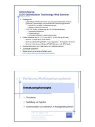 Vorlesung Multiagentensysteme - RRZ Universität Hamburg
