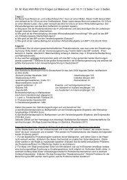 Dr. M. Ruiz HWI WS1213 Fragen zur Makrovorl. vom 16.11.12 Seite ...