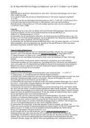 Dr. M. Ruiz HWI WS1213 Fragen zur Makrovorl. vom 30.11.12 Seite ...