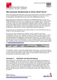 Studierenden-Immatrikulation - RRZ Universität Hamburg