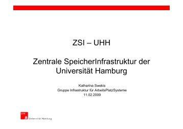 ZSI – UHH Zentrale SpeicherInfrastruktur der Universität Hamburg