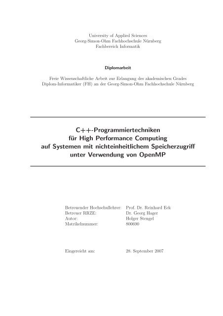 P - RRZE - Regionales RechenZentrum Erlangen