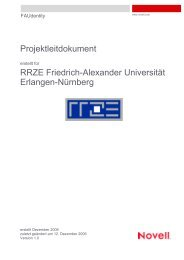 Projektleitdokument - RRZE - Regionales RechenZentrum Erlangen ...