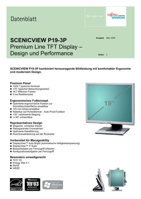 SCENICVIEW P19-3P Premium Line TFT Display – Design und ...