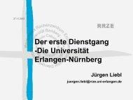 Die Friedrich - RRZE - Regionales RechenZentrum Erlangen