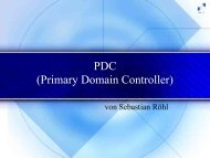 PDC (Primary Domain Controller)