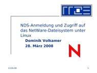 NDS-Anmeldung und Zugriff auf das NetWare-Dateisystem unter Linux