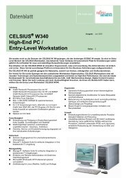 CELSIUS W340 High-End PC / Entry-Level Workstation