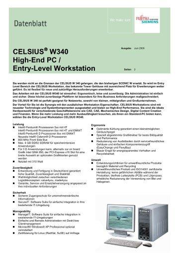 CELSIUS W340 High-End PC / Entry-Level Workstation
