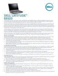 DELL LATITUDE™ E6520
