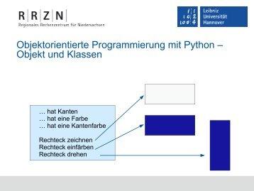 Klassen erstellen und Objekte definieren - RRZN