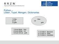 Vordefinierte Datenstrukturen - RRZN