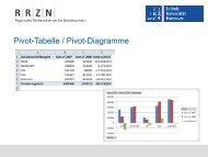 Excel - Diagramme - RRZN - Leibniz Universität Hannover