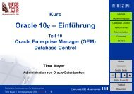 Oracle 10g - Einführung - RRZN