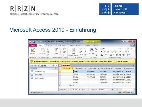 Ms Access Einführung