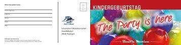 Kindergeburtstag - Flyer - Ralf Schumacher Kartcenter