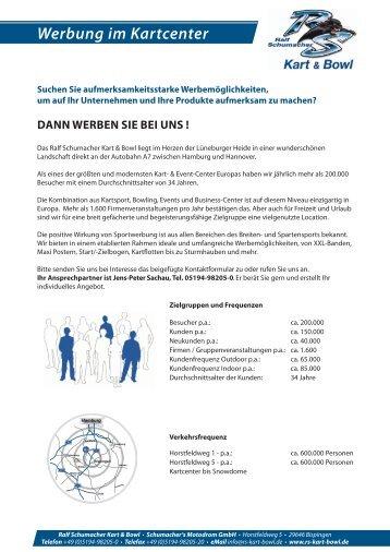 Werbung im Kartcenter - Ralf Schumacher Kartcenter