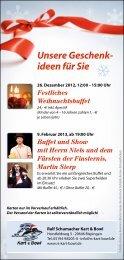 Unsere Geschenk- ideen für Sie - Ralf Schumacher Kartcenter