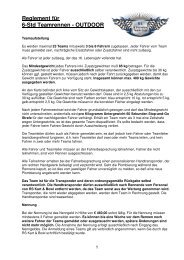 Reglement für 6-Std Teamrennen - OUTDOOR