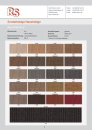 Sonderbeläge Naturbeläge Sisal Memory - Rudolf Stamm GmbH