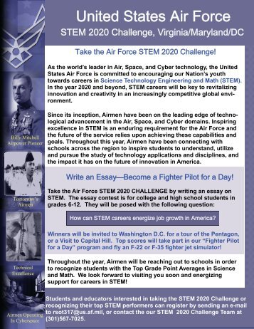 stem challenge essay contest rules and guidance stem 2020 challenge essay contest rules and guidance air force