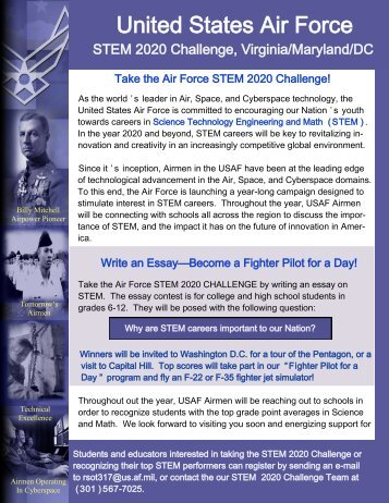 STEM 2020 Challenge essay contest rules and guidance