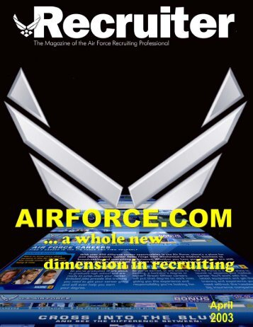 April 03 Recruiter.pmd - Air Force Recruiting Service