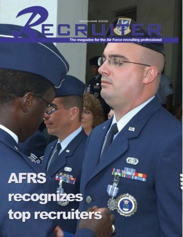 November Recruiter - Air Force Recruiting Service