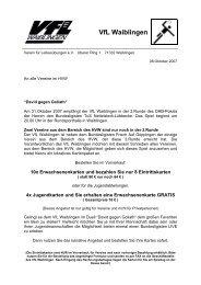 VfL Waiblingen - HVW