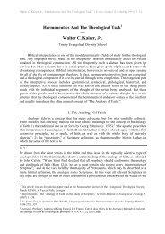 Hermeneutics And The Theological  Task — Walter C. Kaiser, Jr.