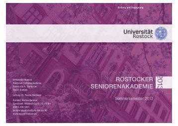 Programmheft Sommersemester 2013 - Rostocker ...