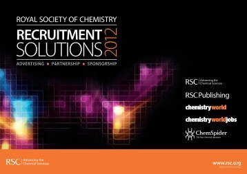 Recruitment Media Pack - Royal Society of Chemistry