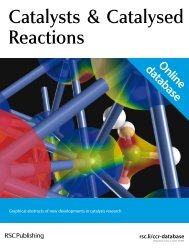 Catalysts & Catalysed Reactions