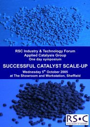 Successful Catalyst Scale-up - Royal Society of Chemistry