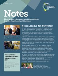 Neuer Look für den Newsletter - Royal Society of Chemistry