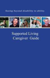 Supported Living Caregiver Guide - Richmond Society for ...