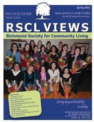 Spring 2011 - Richmond Society for Community Living