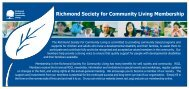 membership form - Richmond Society for Community Living