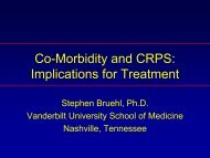 Co-Morbidity and CRPS: Implications for Treatment