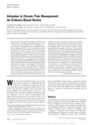 Ketamine in Chronic Pain Management: An Evidence-Based Review