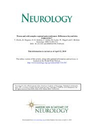 Warm and cold complex regional pain syndromes - Reflex ...