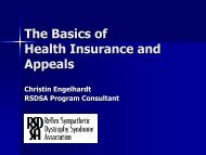 The Basics of Health Insurance and Appeals - Reflex Sympathetic ...