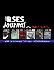 RSES Journal - Refrigeration Service Engineers Society