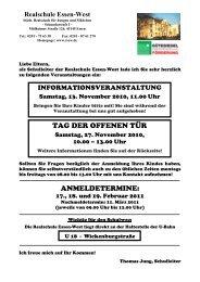 Einladung im PDF-Format zum Download. - Realschule Essen-West