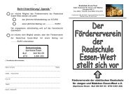 Weitere Informationen - Realschule Essen-West